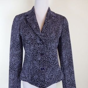ROBERTO CAVALLI JUST Italy NAVY BLUE DOT BLAZER 4